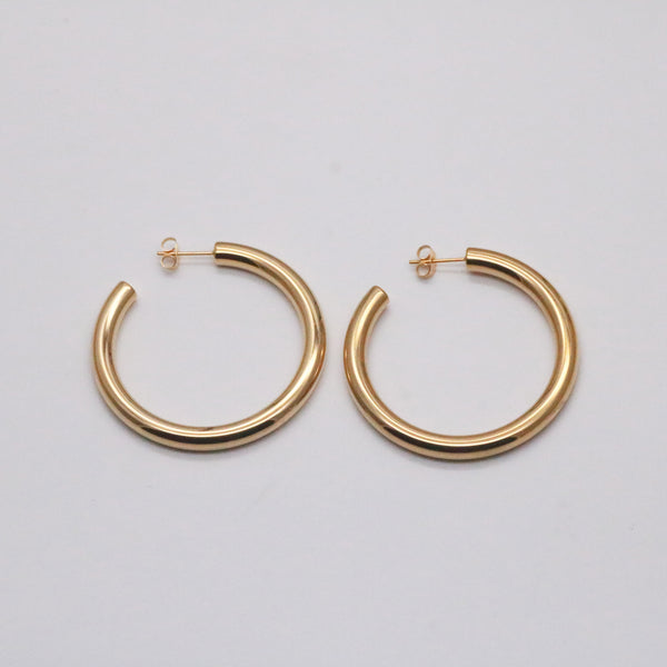 Chunky Large Hoops Gold