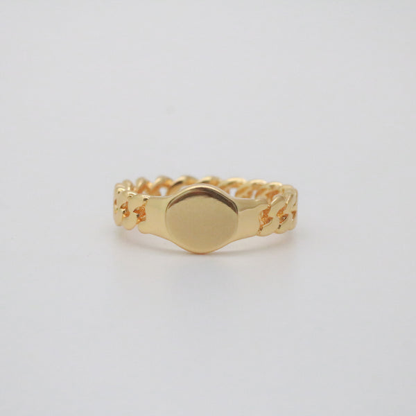 Erin Chain Signet Ring
