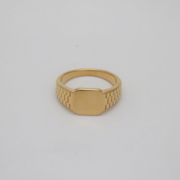 Gold miner signet ring