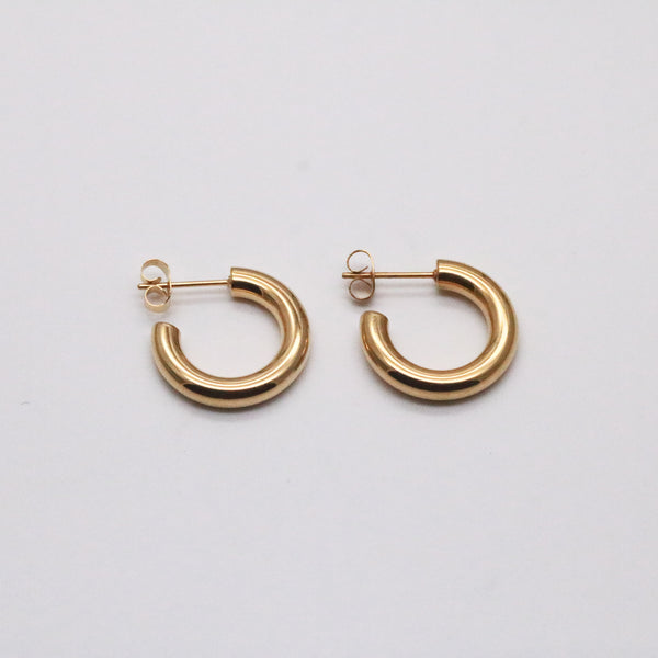 20mm small hoop earrings gold