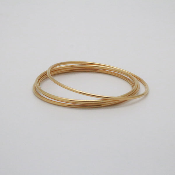 gold thin bangle bracelet