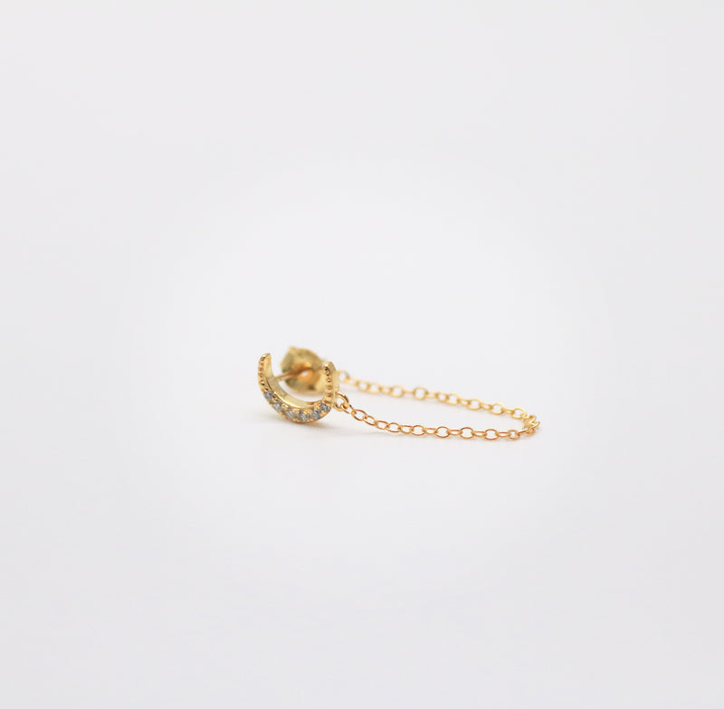 Meideya Jewelry - Moon chain earring