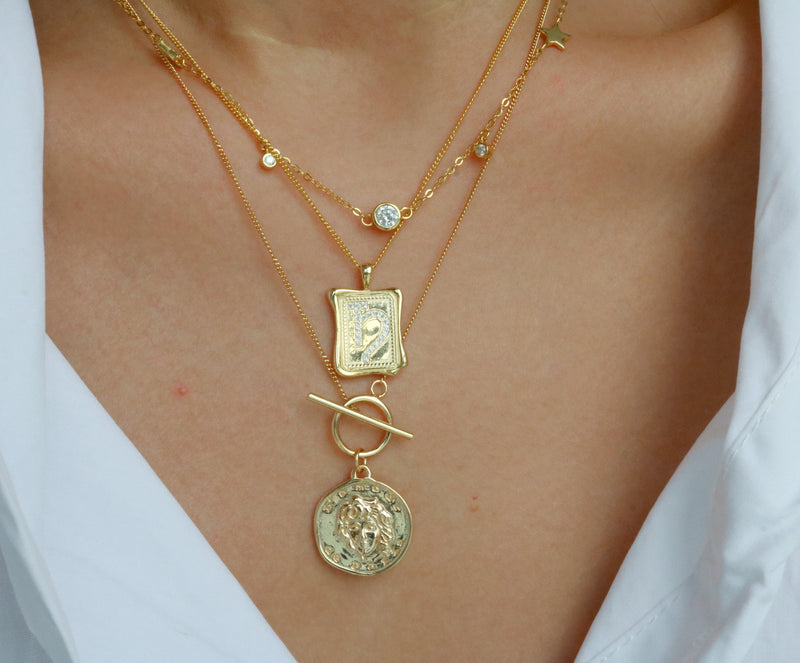 Meideya Jewelry - Medusa layering necklace