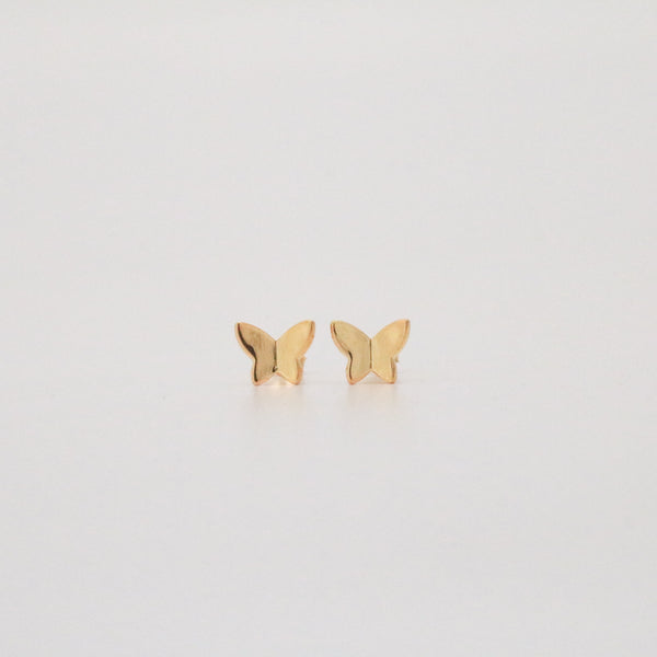 Meideya Jewerly - Butterfly stud earrings in gold plated sterling silver