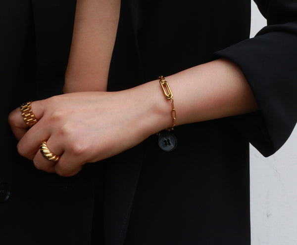 gold chain bracelet - Meideya Jewelry