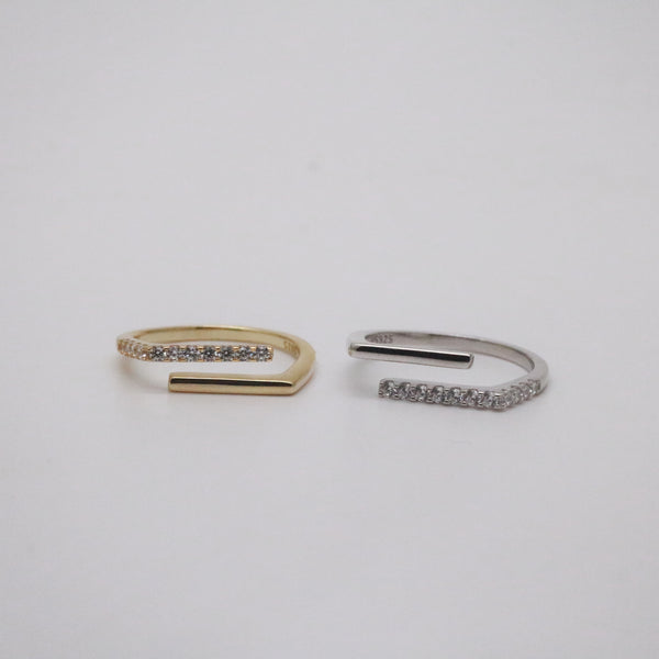 Jones Ring Set, gold and silver