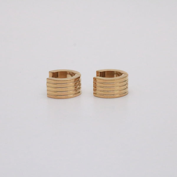 Chunky small huggie earrings