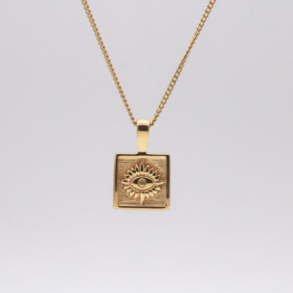 Eye square pendant necklace