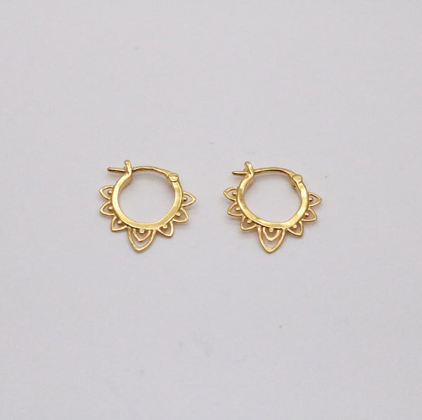 Meideya Jewerly - Sun hoop earrings in 18k gold