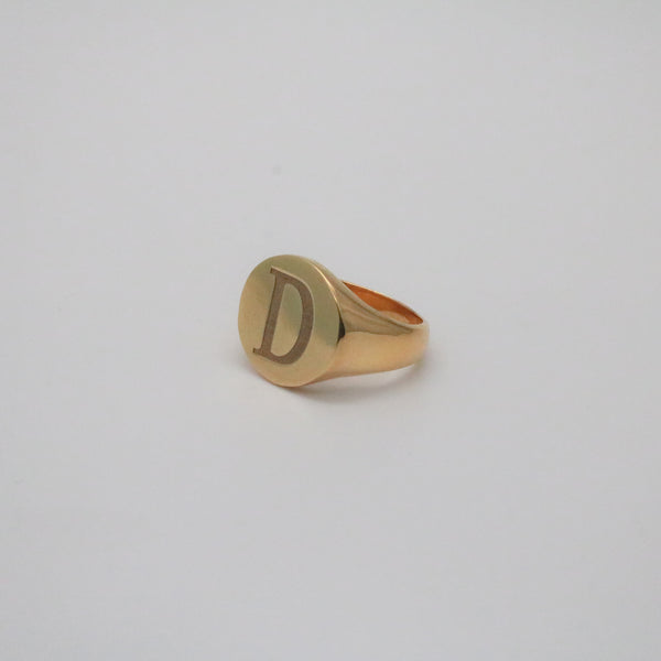 Chunky Initial Signet Ring