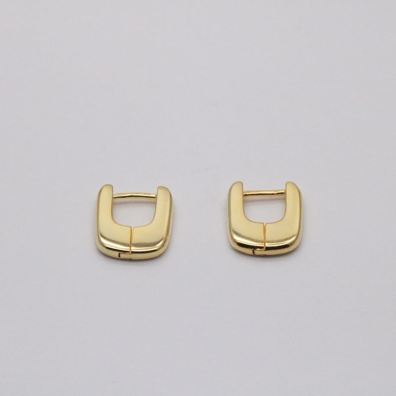 Meideya Jewelry - Square hoops in gold