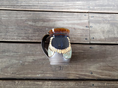 BRASS BELL POTTERY MUGS