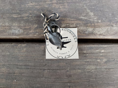 FORGED LEAF IRON KEY RING