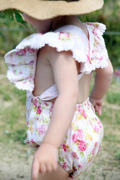floral sailor romper