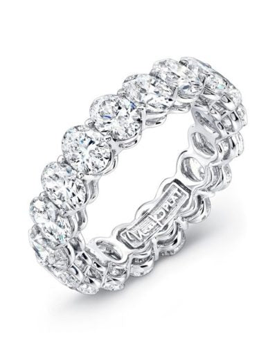 Beautiful oval-cut diamond eternity band