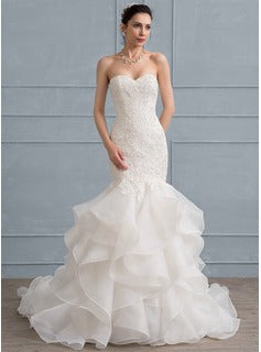 sweetheart lace wedding dress