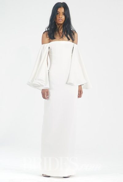dress with long ruffled bell sleeves, Houghton