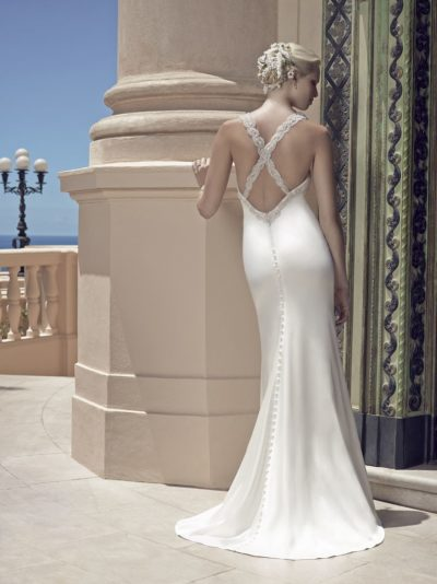 A-line gown made of luxurious Duchess Satin