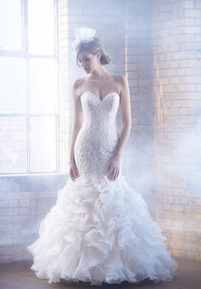 fishtail wedding gown