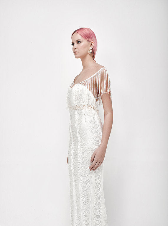 Fringe Wedding Dress