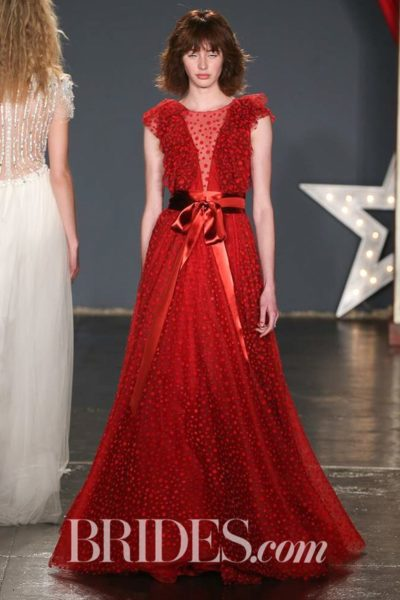 Jenny Packham Red A-line Gown