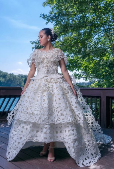 Dress by Roy Cruz of Chesapeake, Virginia