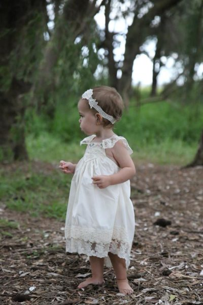 baby french vanilla dress