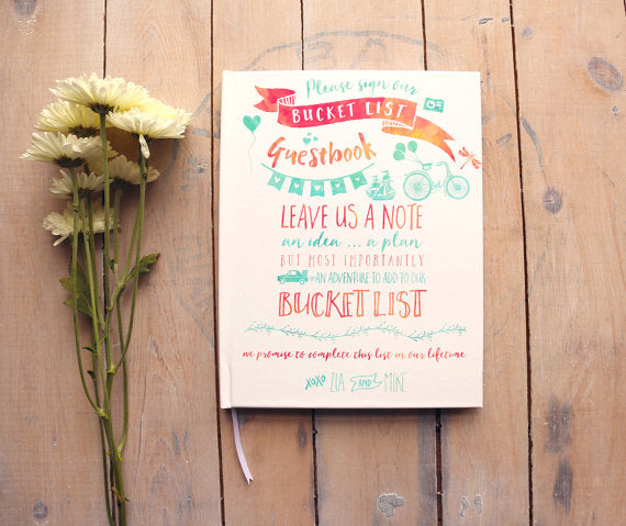 Bucket List Guest Book