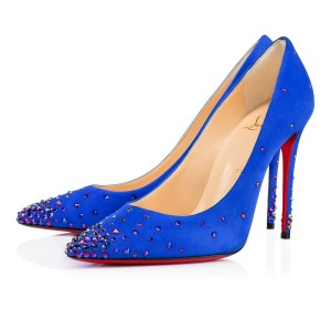 "Glisten from toe to head in ""Degrastrass by Christian Louboutins"