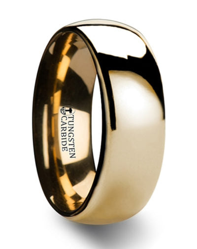 ORO Domed Gold Tungsten Wedding Ring