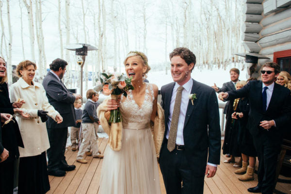From: A Gold Winter Wedding at Trappers Cabin in Beaver Creek, Colorado