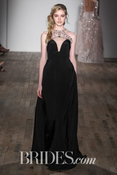Hayley Paige Zsa Zsa Black Gown