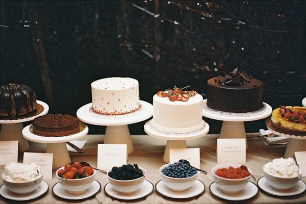 cakes and fruit