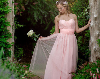 convertible Bridesmaid Dress in Soft Tulle