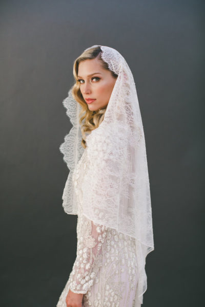 chantilly lace veil