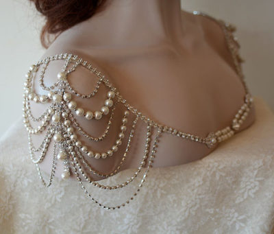 Rhinestone and Pearl Shoulder