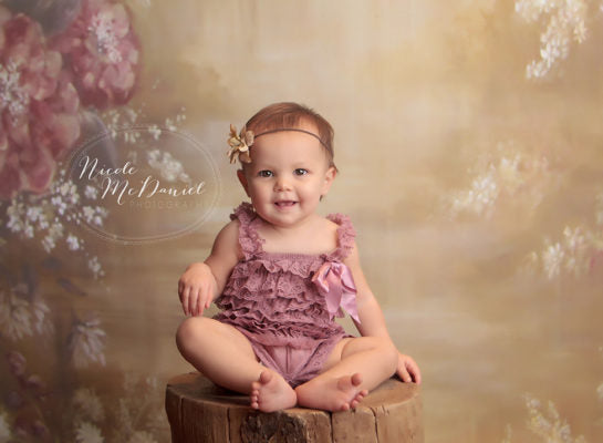 Dusty rose petti romper