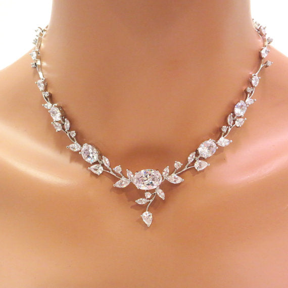 Crystal Wedding necklace