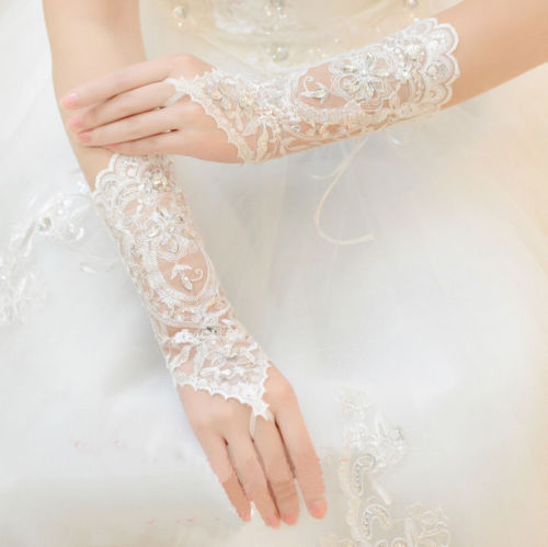 New Crystal lace bridal glove