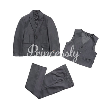 3 PCS Gray Boys Formal Occasion Suit