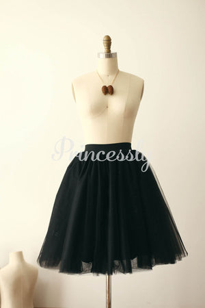 Black Tulle TUTU Skirt / Short Woman Skirt