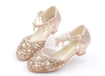 Gold / Silver / Pink Sequin Rhinestone Sandals Wedding