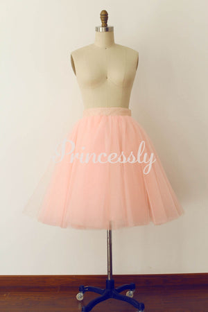 Pink Tulle Sequin Skirt / Short Woman Skirt - XS / Pink