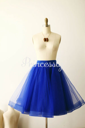 Royal Blue Tulle Skirt / Short Woman Skirt