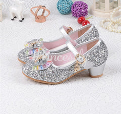 Silver / Gold / Pink Sequin Glitter Leather Wedding Princess