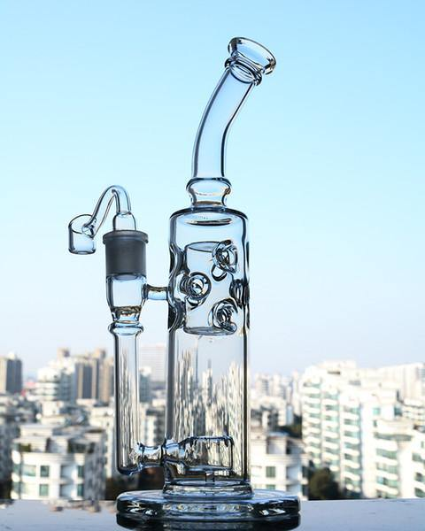 "11.8"" Straight Dab Rig w/ Faberge Egg and Circ Percolator - Burnt Mushroom"