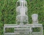 Load image into Gallery viewer, 14/18mm Ash Catcher w/ 2 Honeycomb and Inline Percolators + Reclaimer - Burnt Mushroom
