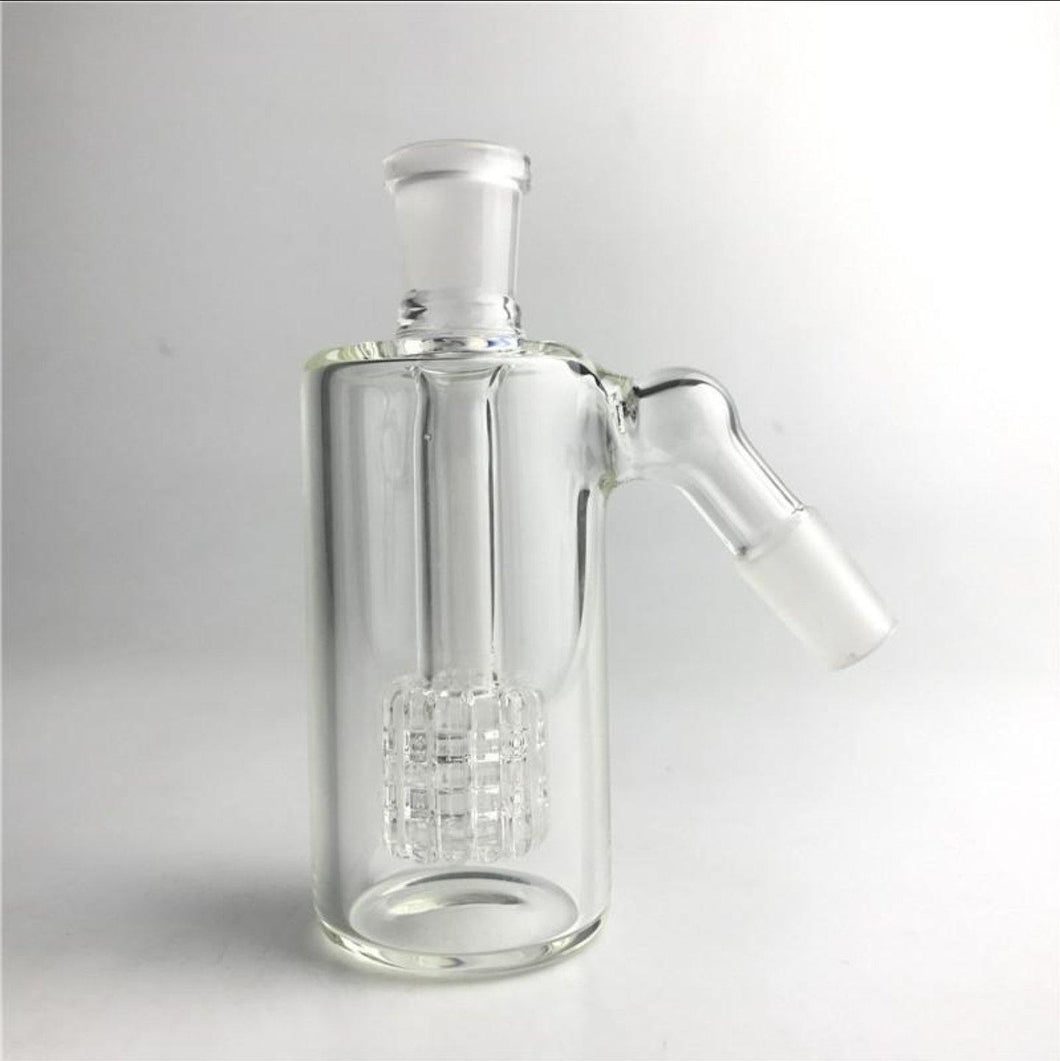14/18mm Ash Catcher w/ Cage Percolator - Burnt Mushroom
