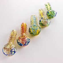 "Load image into Gallery viewer, 3.74"" Multi-colored Spoon Pipe - Burnt Mushroom"