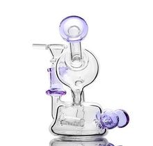 "Load image into Gallery viewer, 5.5"" Beaker Bong w/ Inline Percolator and Recycler - Burnt Mushroom"